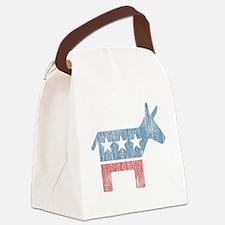 Vintage Democrat Donkey Canvas Lunch Bag