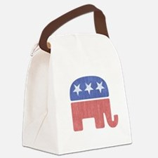 Old Republican Elephant Canvas Lunch Bag