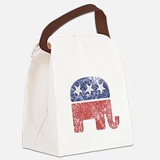 Worn Republican Elephant Canvas Lunch Bag