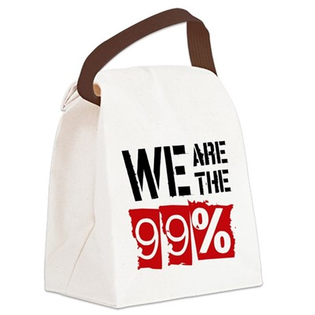 We Are The 99% Canvas Lunch Bag