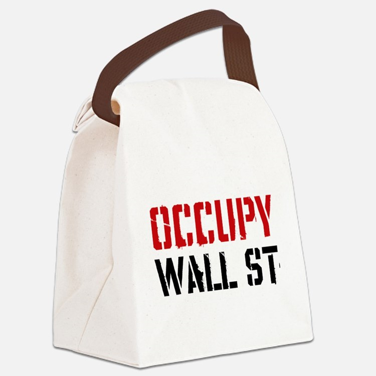 Occupy Wall St Canvas Lunch Bag