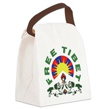 free_tibet.png Canvas Lunch Bag