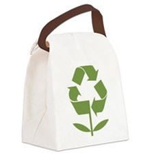 Recycle Flower Canvas Lunch Bag