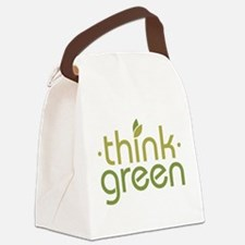 Think Green [text] Canvas Lunch Bag