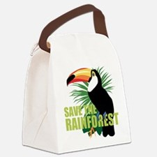 save_rainforest.png Canvas Lunch Bag