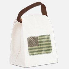 Camo American Flag [Vintage] Canvas Lunch Bag