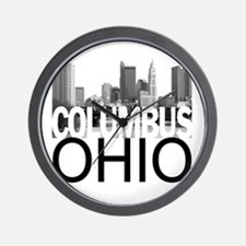 Columbus Skyline Wall Clock