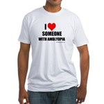 I HEART Someone with Amblyopia Fitted T-Shirt