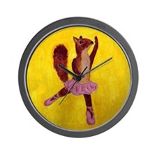 Ballet Squirrel Wall Clock