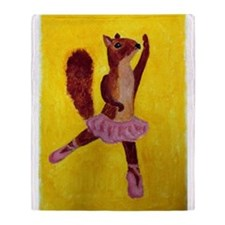 Ballet Squirrel Throw Blanket