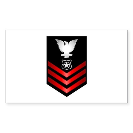 Navy Master at Arms First Class Sticker (Rectangle