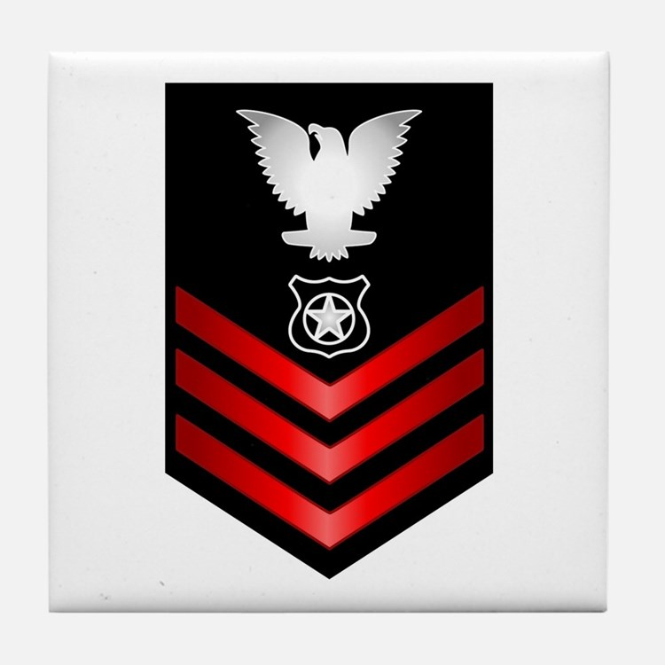 Navy Master at Arms First Class Tile Coaster