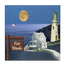 Fair Winds Cottage Tile Coaster
