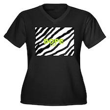 Dope Life Women's Plus Size V-Neck Dark T-Shirt