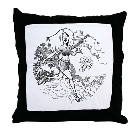 Disc Golf Girl Style Throw Pillow