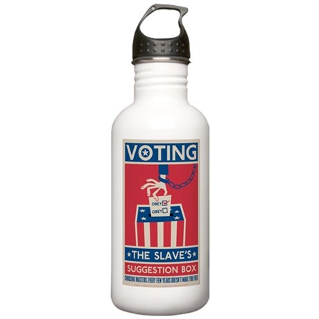 Voting Stainless Water Bottle 1.0L