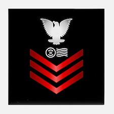 Navy Postal Clerk First Class Tile Coaster