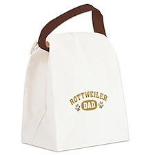 Rottweiler Dad Canvas Lunch Bag