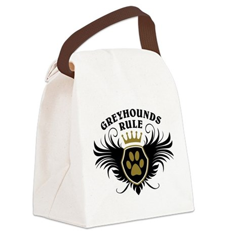 Greyhounds Rule Canvas Lunch Bag