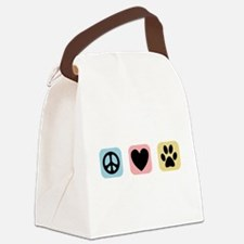 Peace Love Pets [i] Canvas Lunch Bag