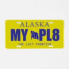 Alaska - The Last Frontier yellow license plate