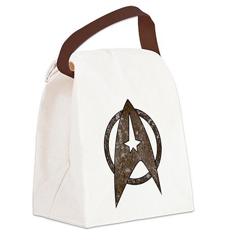 Vintage Starfleet Badge Canvas Lunch Bag