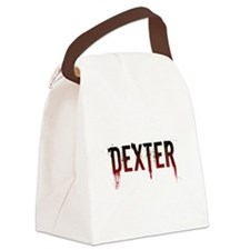 dexter_text2.png Canvas Lunch Bag