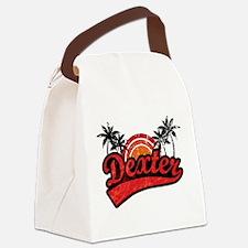 dexter_retro.png Canvas Lunch Bag