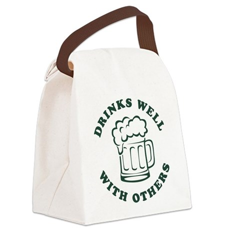 Drinks Well With Others [beer Canvas Lunch Bag