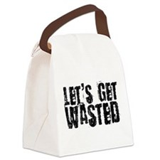 2-wasted.png Canvas Lunch Bag