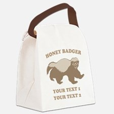 Personalize Honey Badger Canvas Lunch Bag