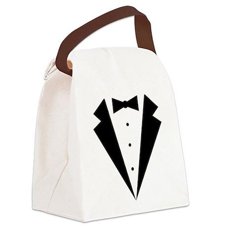 Minimalist Funny Tuxedo Canvas Lunch Bag