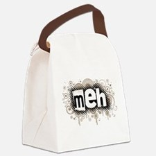 3-meh.png Canvas Lunch Bag