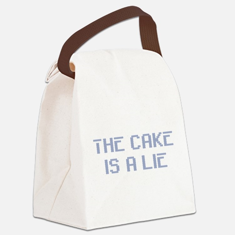 TheCakeisaLie.png Canvas Lunch Bag