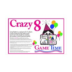 Crazy8 Game Wall Decal