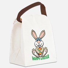 happyeaster_bunny.png Canvas Lunch Bag