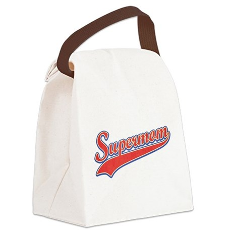 Supermom [vintage red] Canvas Lunch Bag