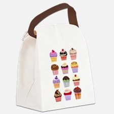 Dozen of Cupcakes Canvas Lunch Bag