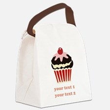 PERSONALIZE Vanilla Cupcake Canvas Lunch Bag