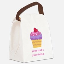 PERSONALIZE Fruit Cupcake Canvas Lunch Bag