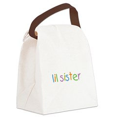 lil_sis_text.png Canvas Lunch Bag