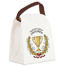 World's Best Groomer Canvas Lunch Bag