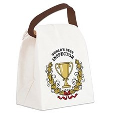 World's Best Inspector Canvas Lunch Bag