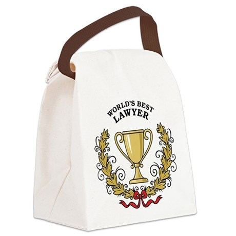 World's Best Lawyer Canvas Lunch Bag
