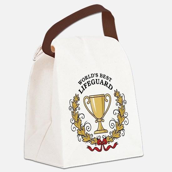 World's Best Lifeguard Canvas Lunch Bag