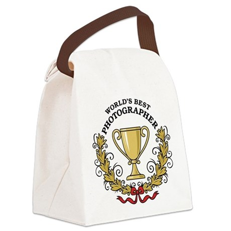 World's Best Photographer Canvas Lunch Bag