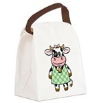 funny_cow.png Canvas Lunch Bag