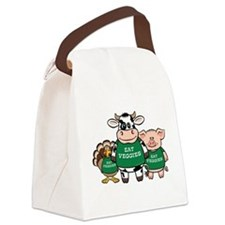 eat_veggies.png Canvas Lunch Bag