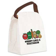 nobody_vegeterian.png Canvas Lunch Bag