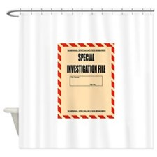 Special Investigation File Shower Curtain